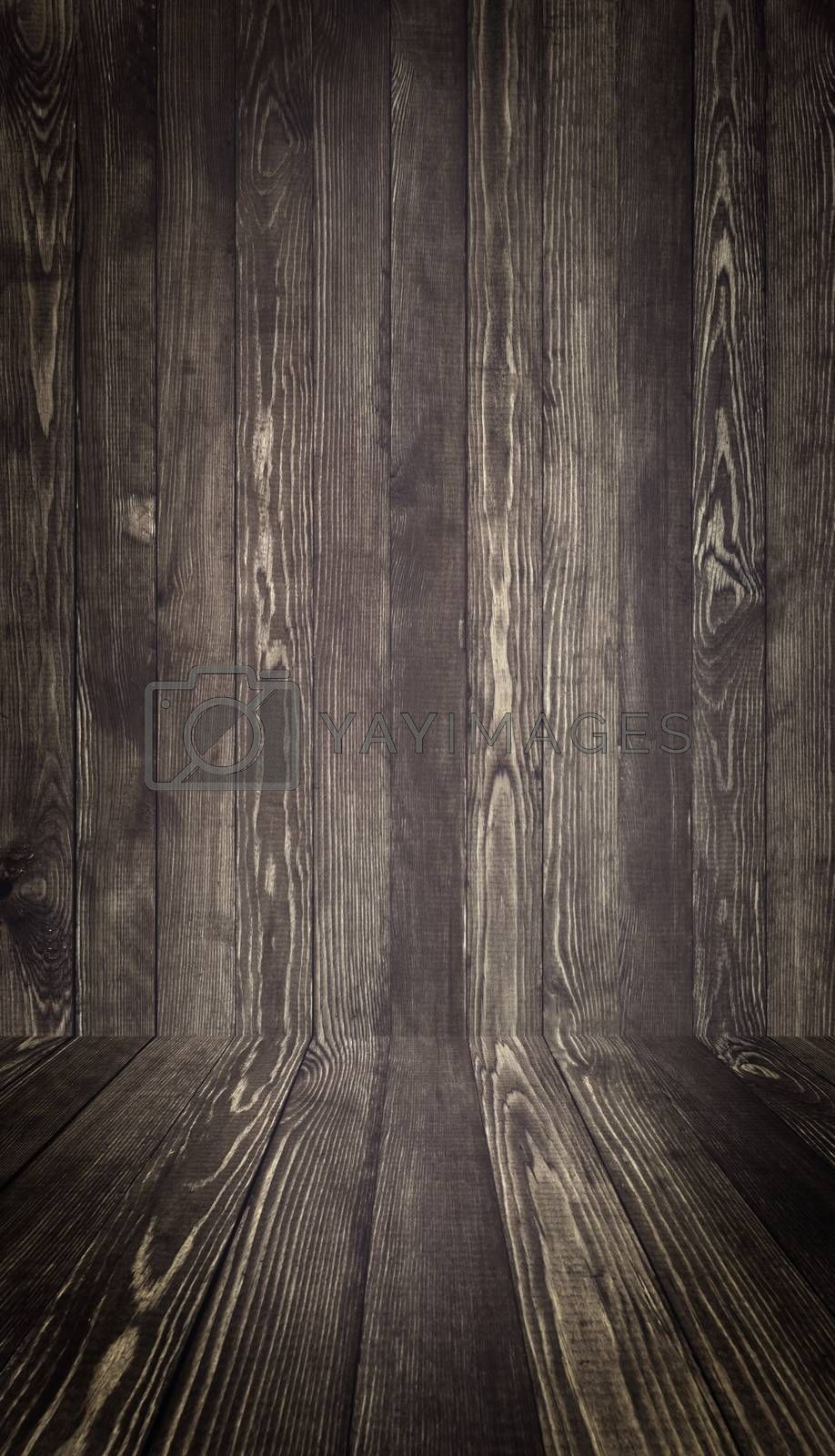 Royalty free image of Wood Texture Background. Old boards. by primopiano