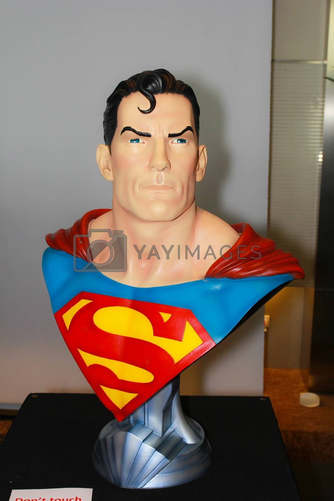 Royalty free image of A model of the character Superman from the movies and comics  by redthirteen