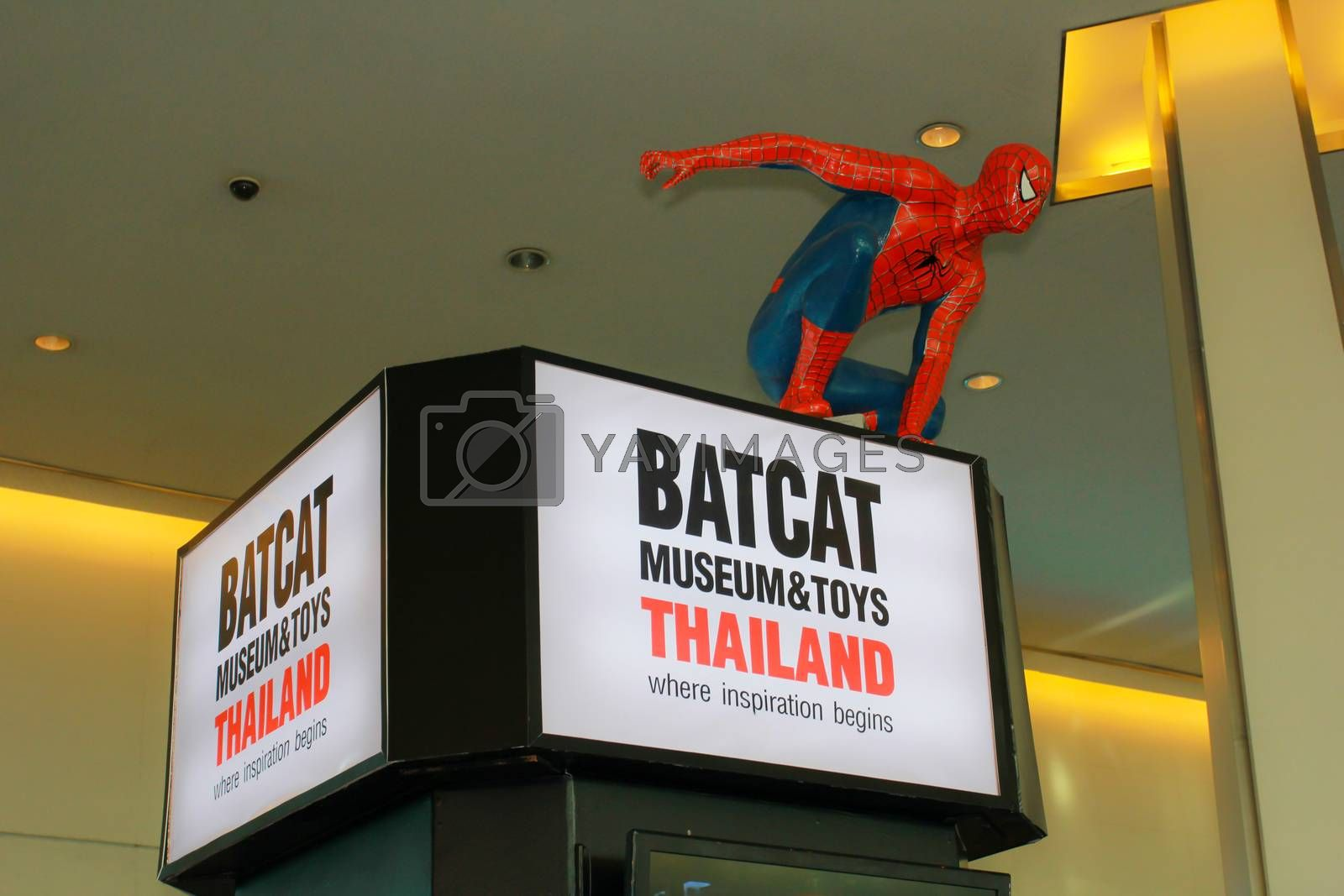 Royalty free image of A model of the character Spiderman from the movies and comics by redthirteen