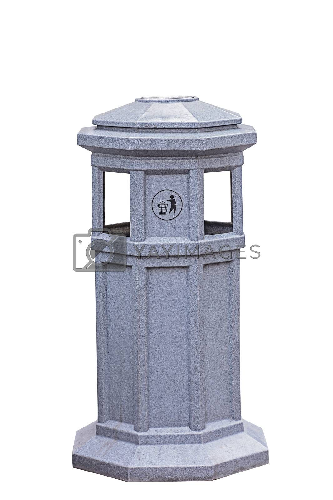 Royalty free image of Trash can by NuwatPhoto