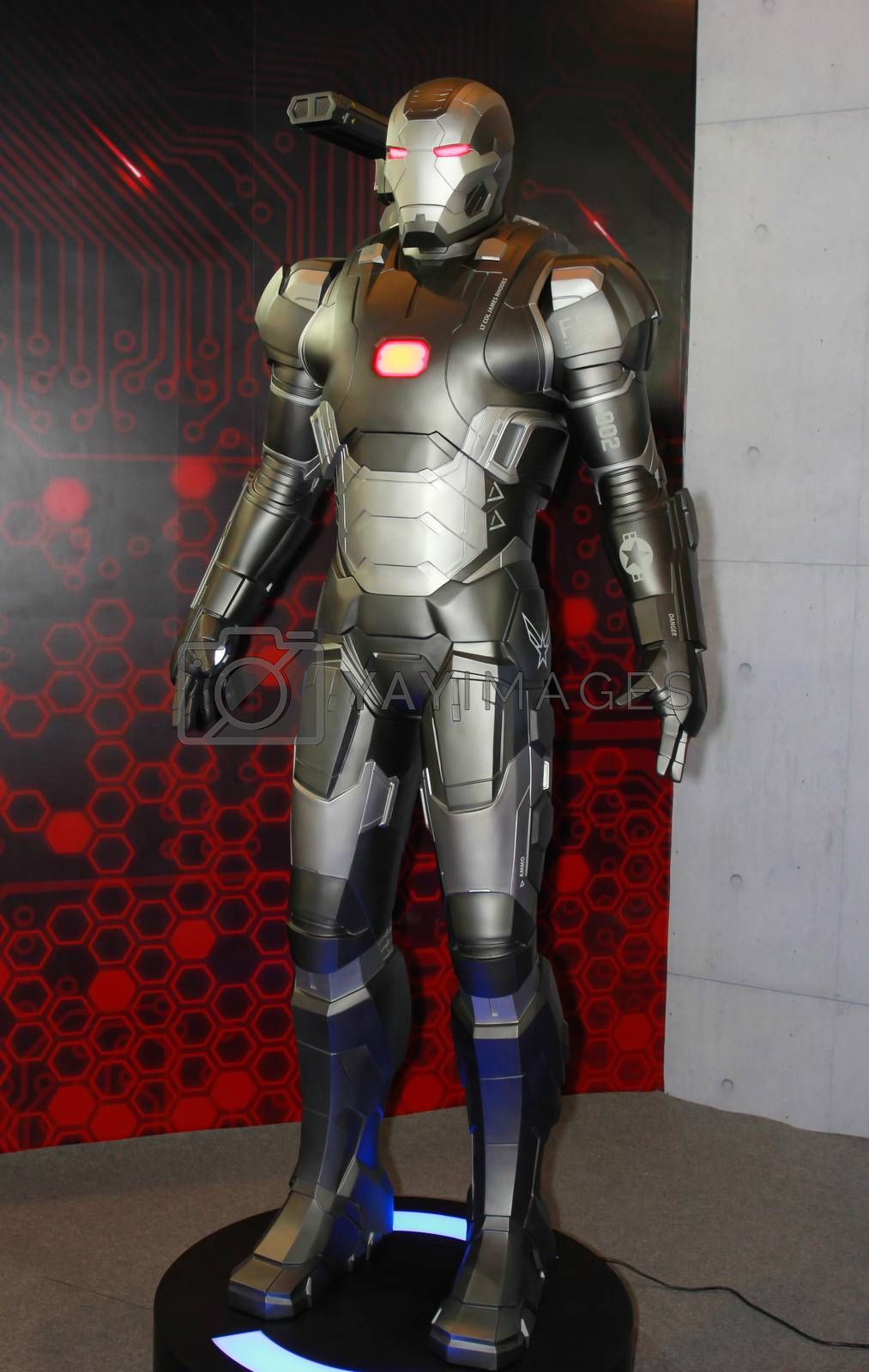 Royalty free image of A model of the character Iron Man from the movies and comics 13 by redthirteen