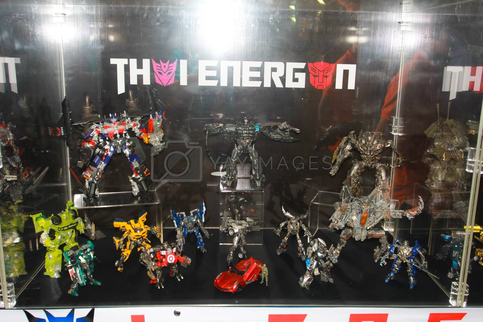 Royalty free image of A model of the character Transformer from the movies and comics  by redthirteen