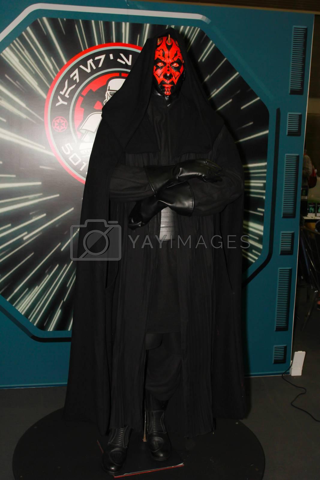 BANGKOK - MAY. 11: A Sith Lord model in Thailand Comic Con 2014 on May 11, 2014 at Siam Paragon, Bangkok, Thailand.