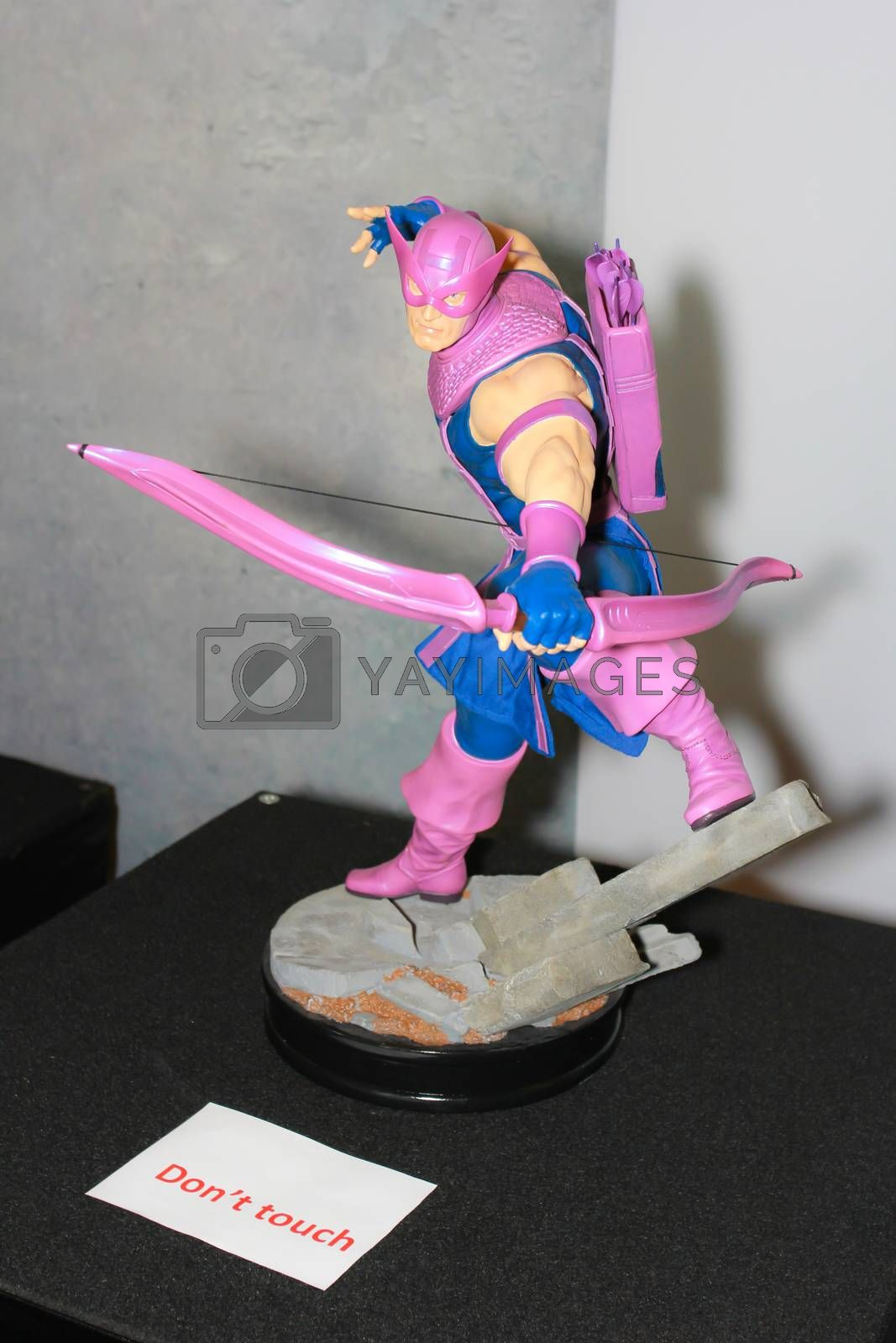 Royalty free image of A model of the character Hawkeye from the movies and comics 2 by redthirteen