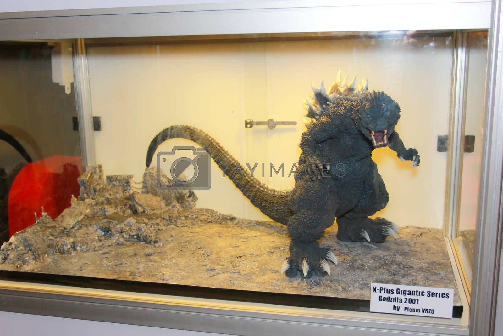 BANGKOK - MAY. 11: A Godzilla model in Thailand Comic Con 2014 on May 11, 2014 at Siam Paragon, Bangkok, Thailand.