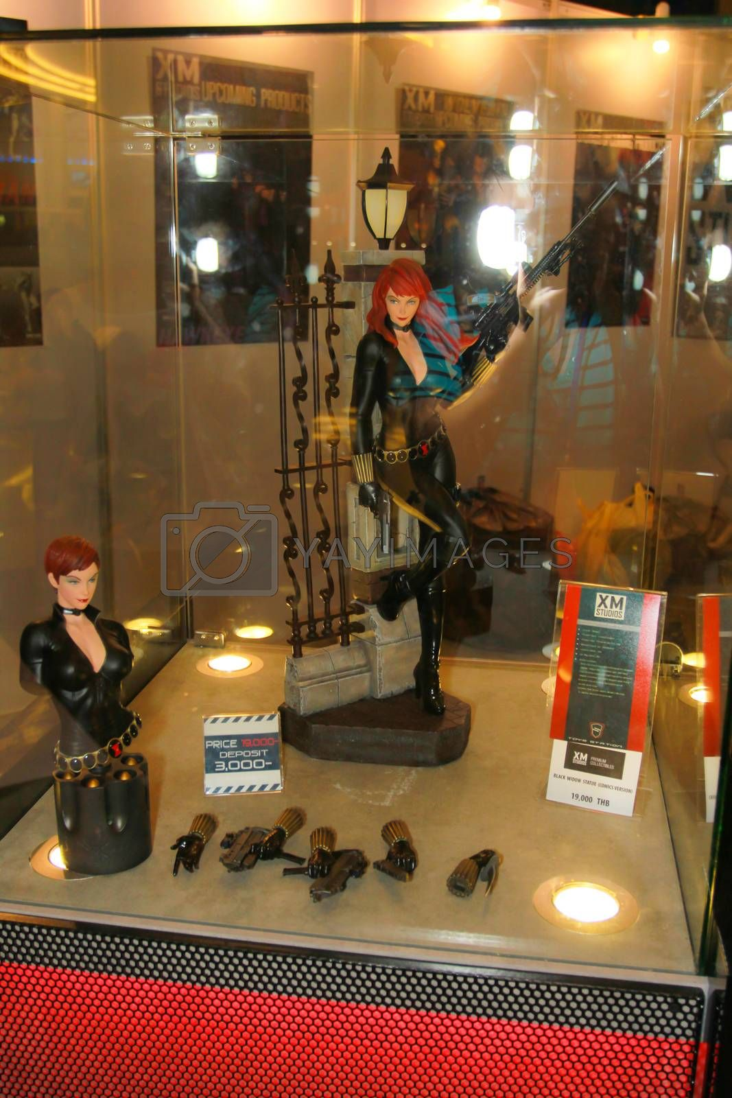 Royalty free image of A model of the character Black Widow from the movies and comics  by redthirteen