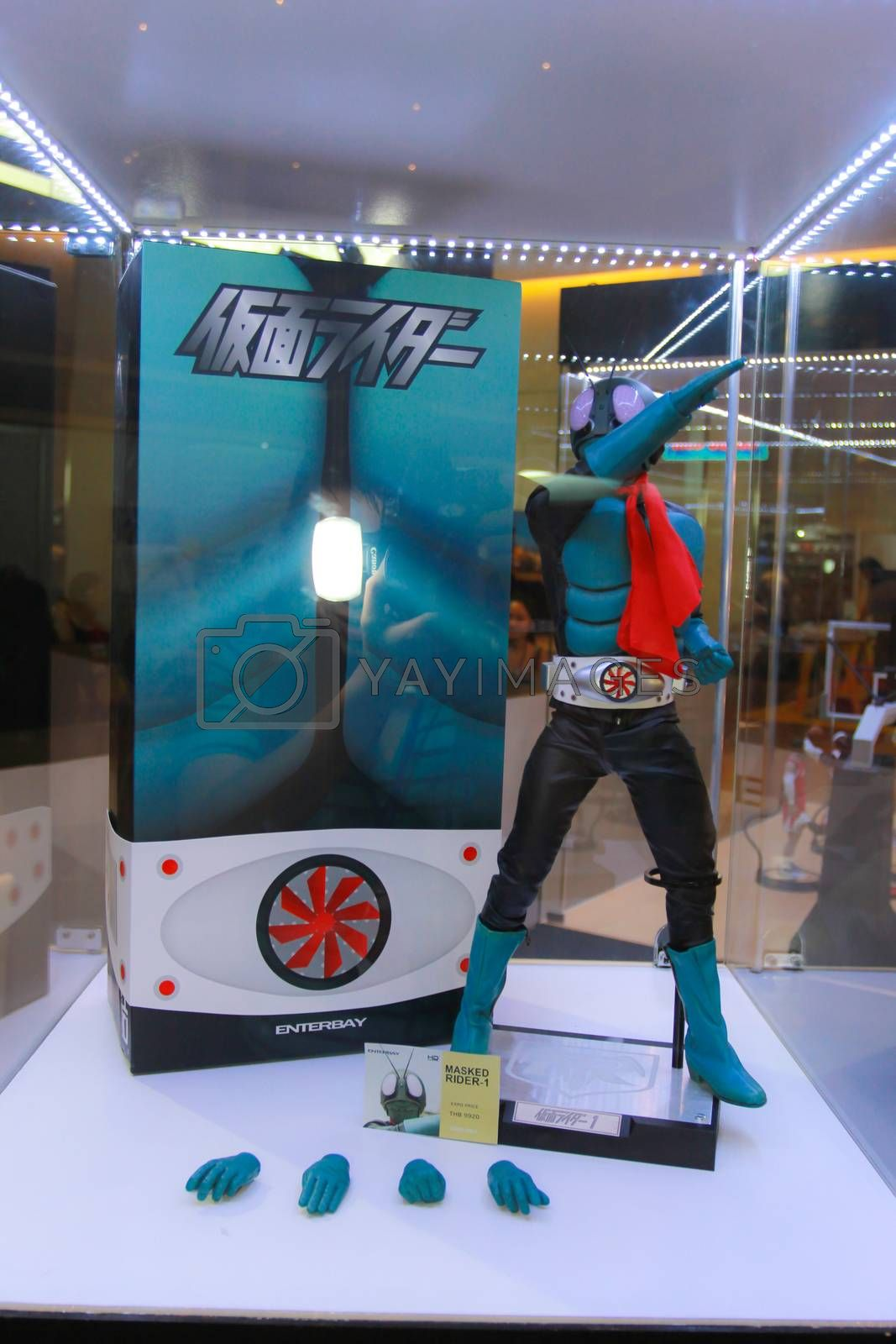 Royalty free image of A model of the character Masked Rider-1 from the comics  by redthirteen