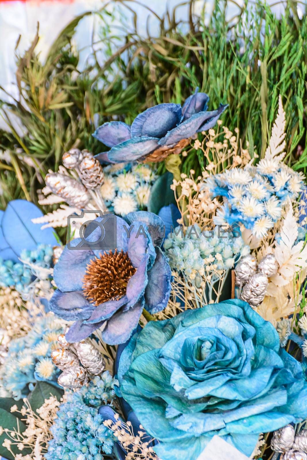Royalty free image of Beautiful dry flowers by NuwatPhoto