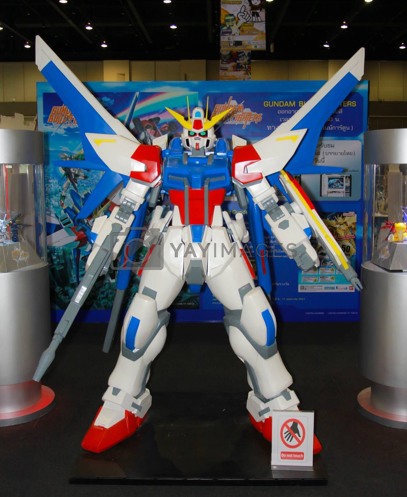 Royalty free image of A model of the character Gundam from the movies and comics 2 by redthirteen