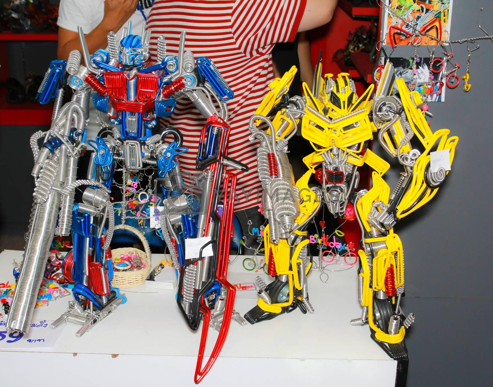 BANGKOK - MAY. 11: A Transfomer model in Thailand Comic Con 2014 on May 11, 2014 at Siam Paragon, Bangkok, Thailand.