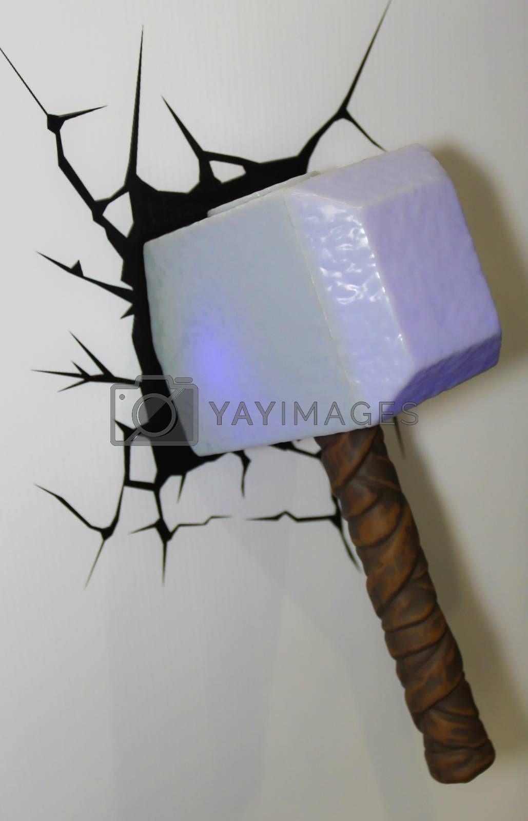 Royalty free image of A model of the Thor Hammer from the movies and comics 3 by redthirteen