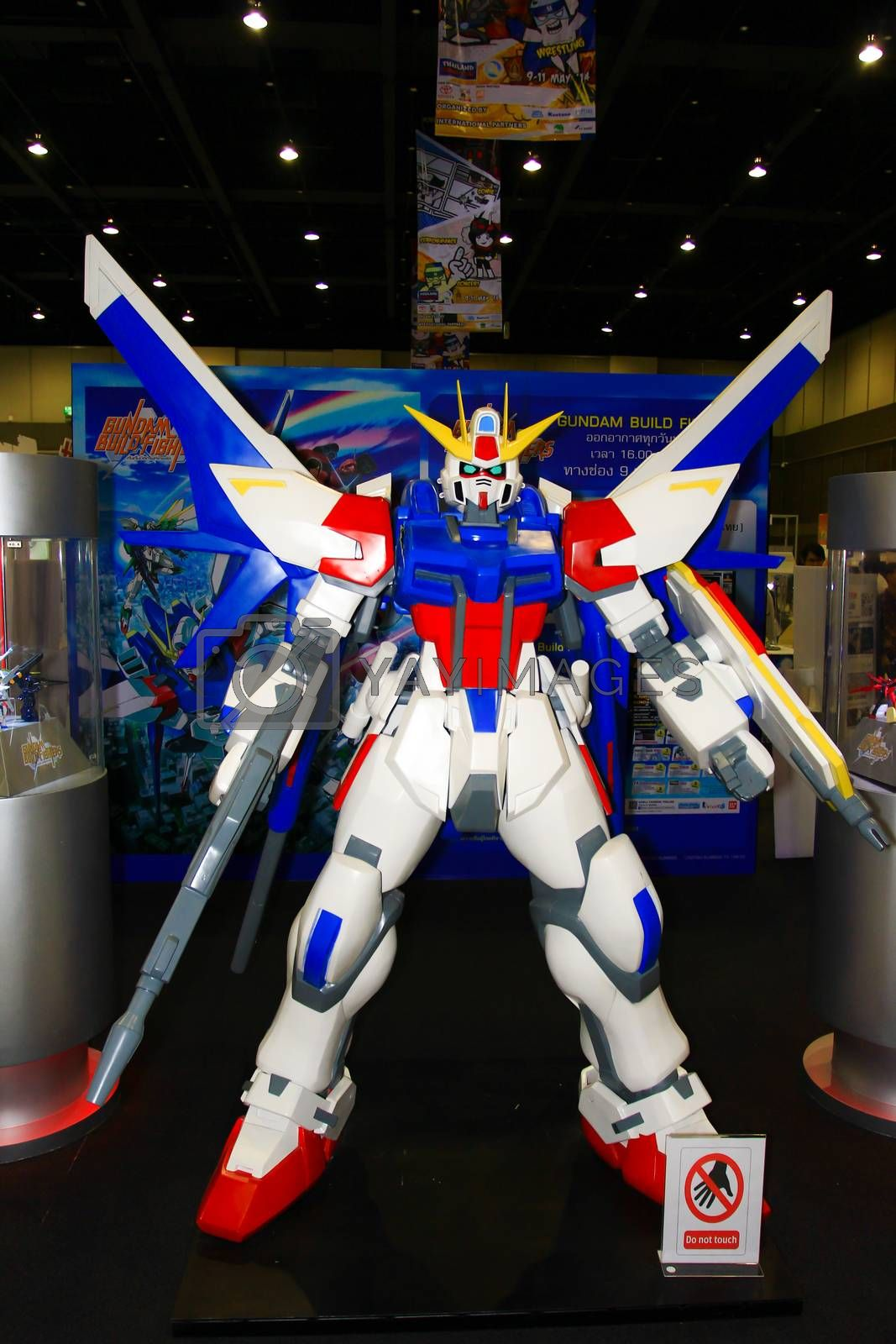 Royalty free image of A model of the character Gundam from the movies and comics 16 by redthirteen