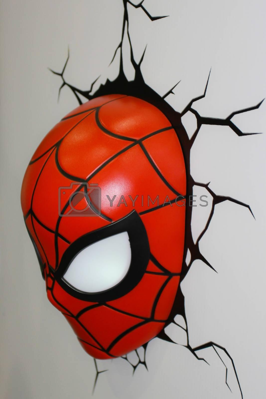 BANGKOK - MAY. 11: A Spiderman Mask model in Thailand Comic Con 2014 on May 11, 2014 at Siam Paragon, Bangkok, Thailand.
