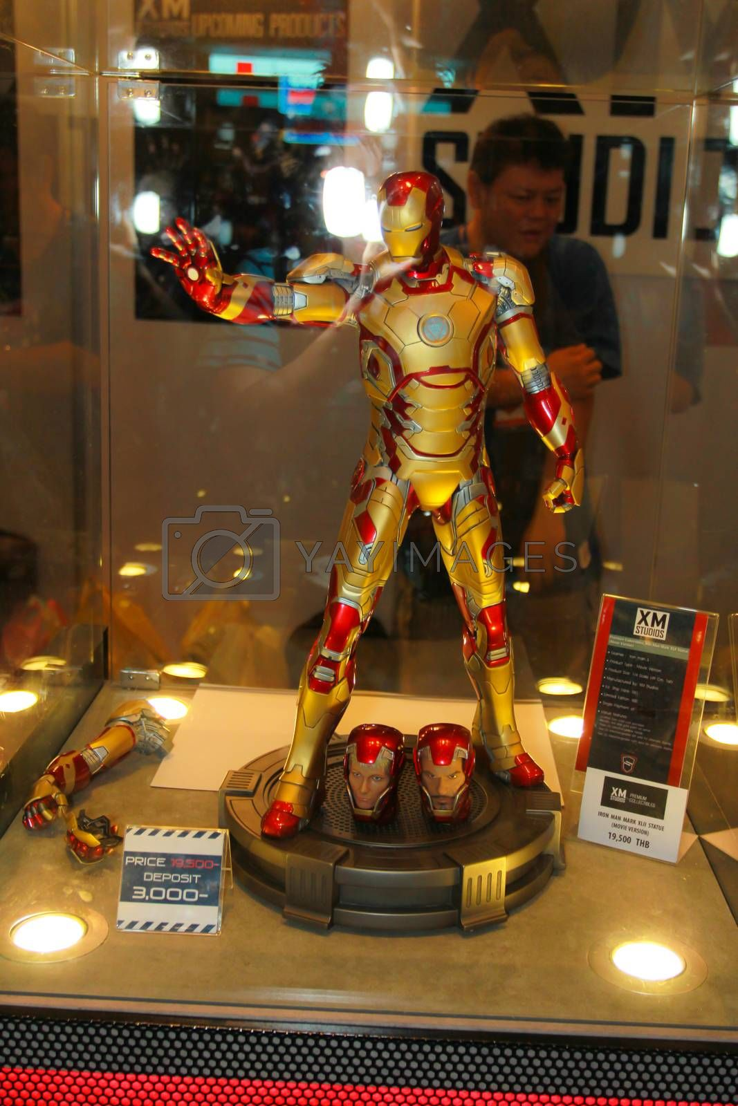 Royalty free image of A model of the character Iron Man from the movies and comics 20 by redthirteen