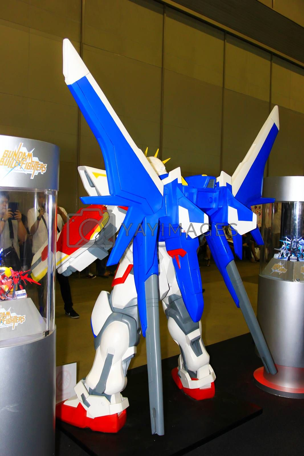 Royalty free image of A model of the character Gundam from the movies and comics 14 by redthirteen