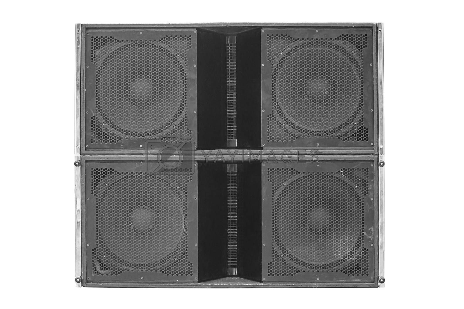 Royalty free image of Speakers isolated  by NuwatPhoto