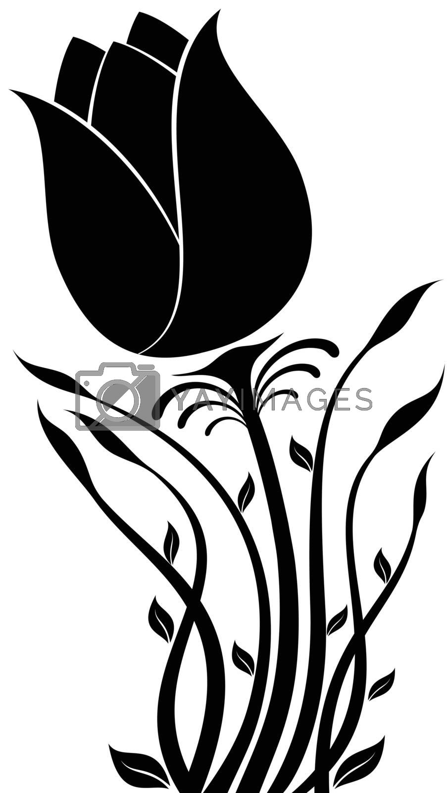 Royalty free image of Flower Silhouette by silverrose1