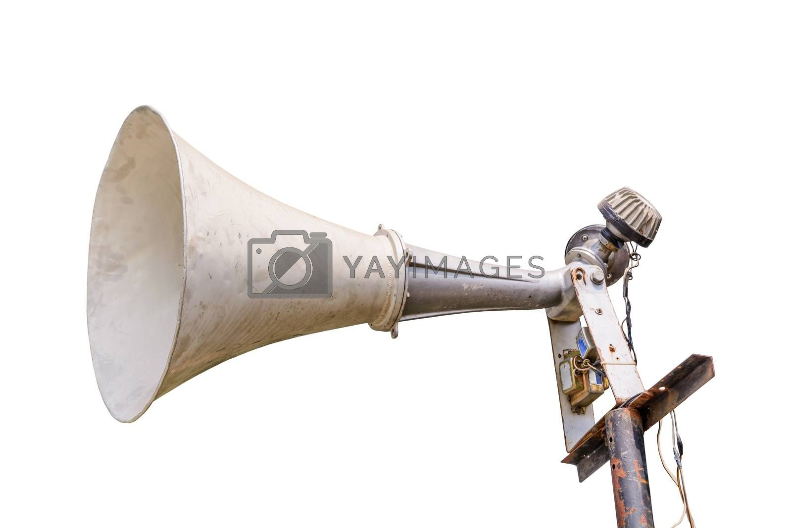 Royalty free image of Old loudspeaker isolated by NuwatPhoto