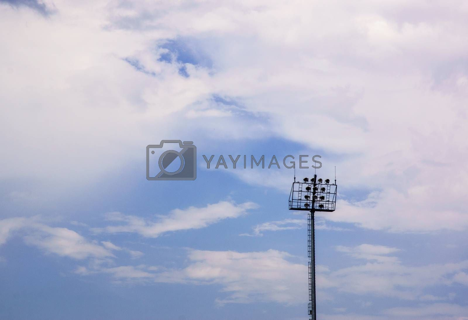 Royalty free image of stadium lamp by nattapatt