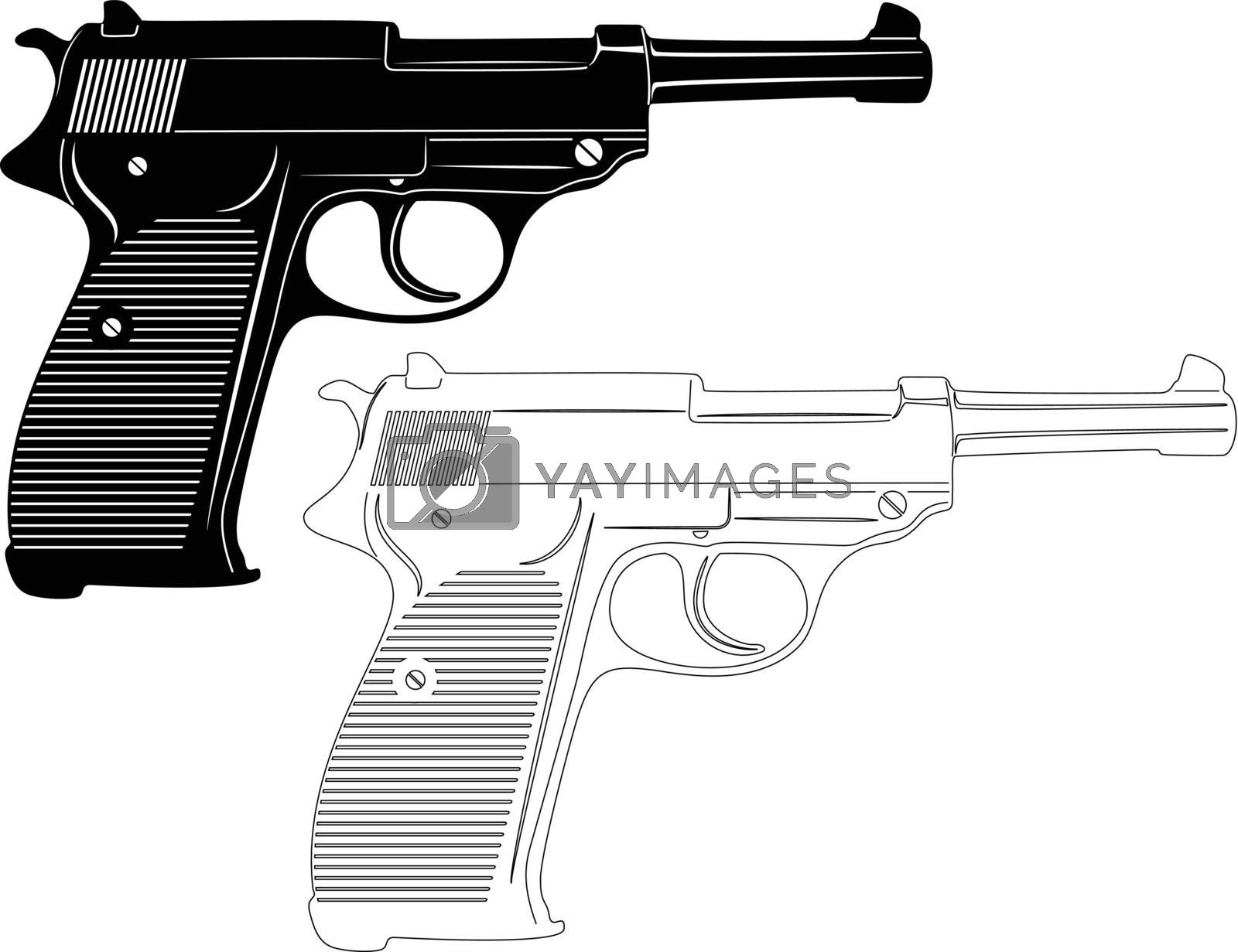 Royalty free image of Gun Silhouette by silverrose1