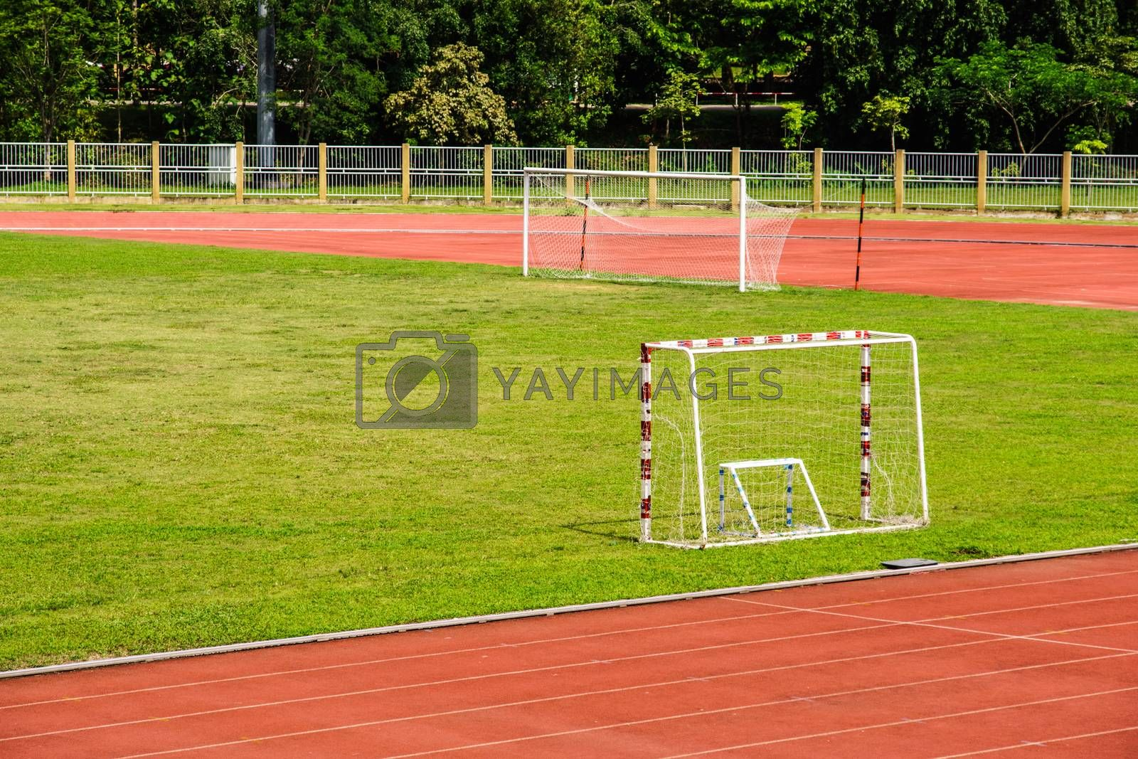 Royalty free image of tripple goal by nattapatt