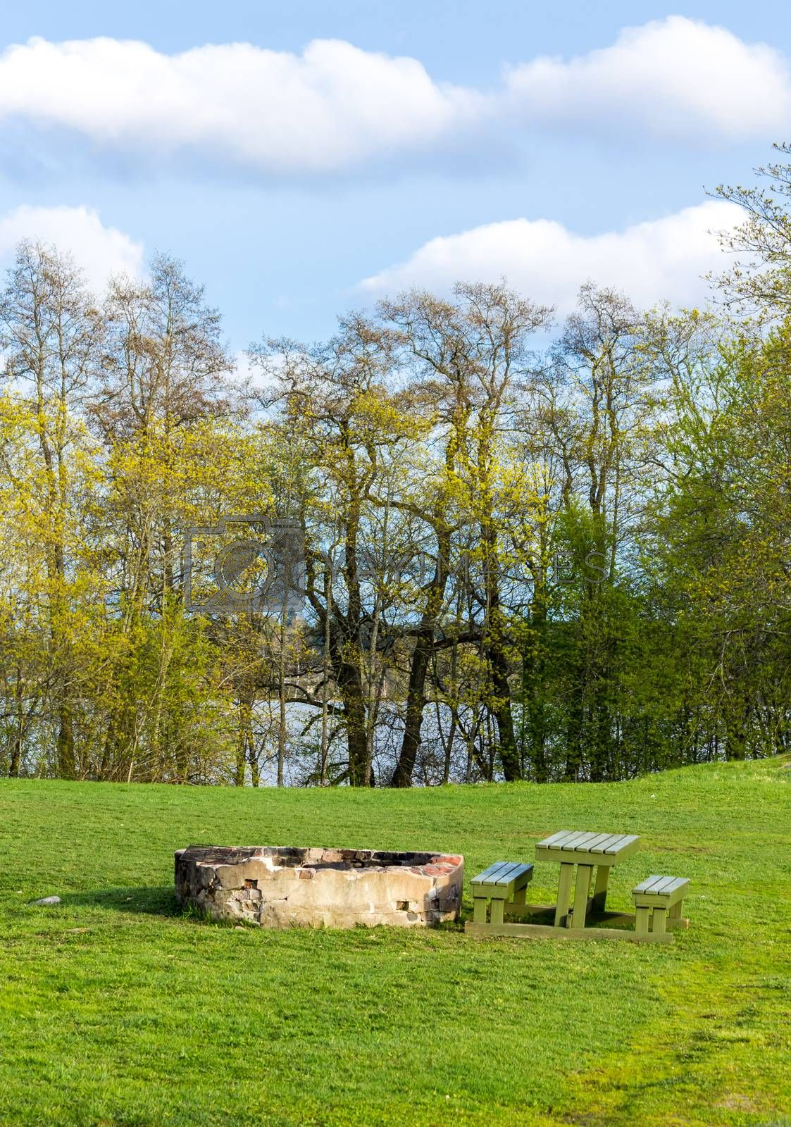 Royalty free image of Picnic place in the meadow by Alexanderphoto
