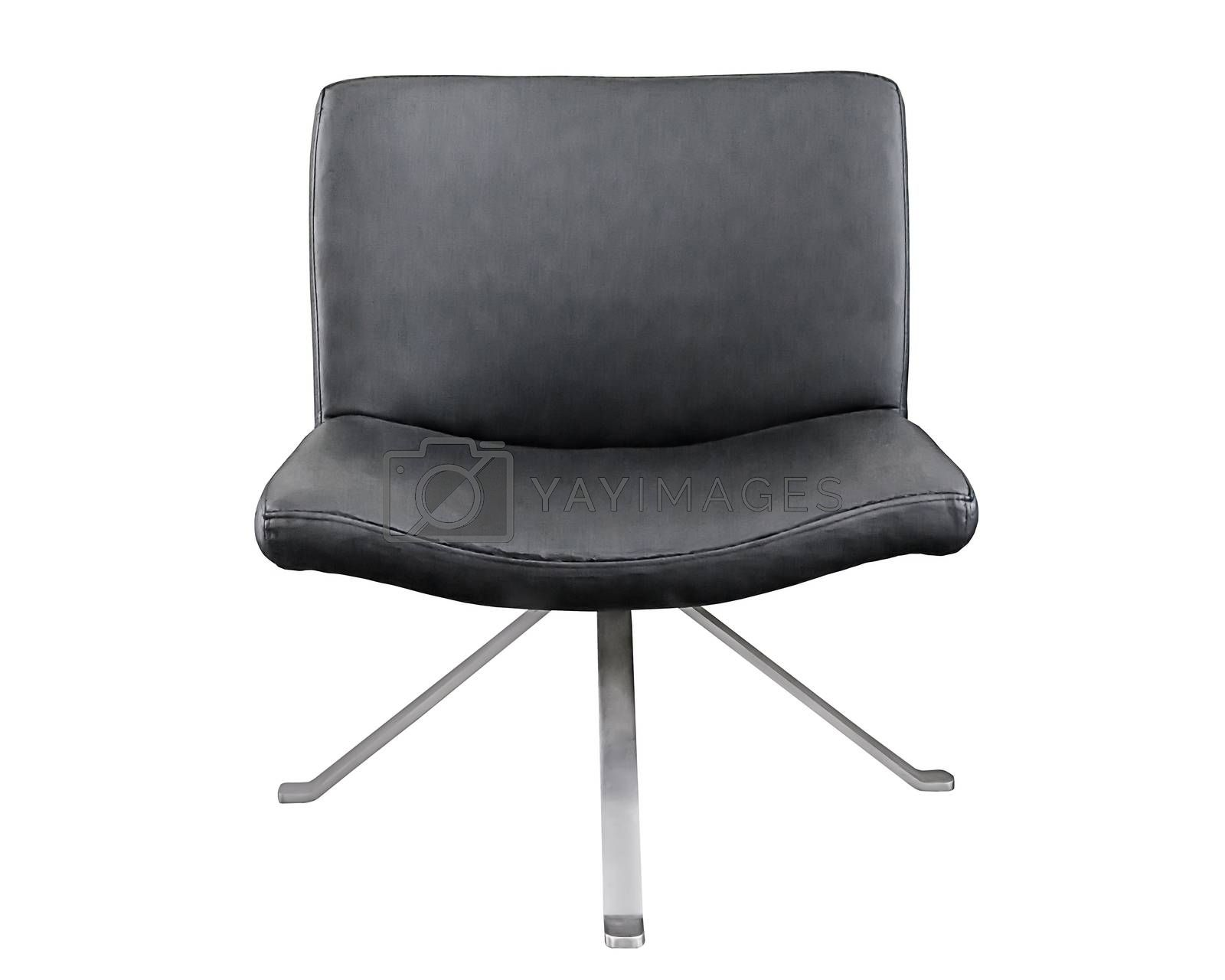 Royalty free image of Black leather office chair  by NuwatPhoto