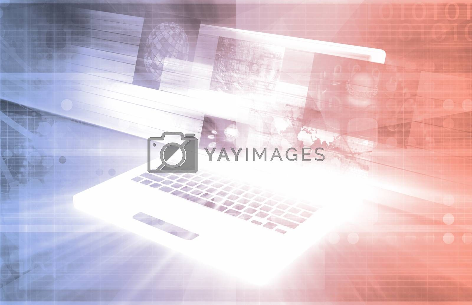 Royalty free image of Computer Technology by kentoh