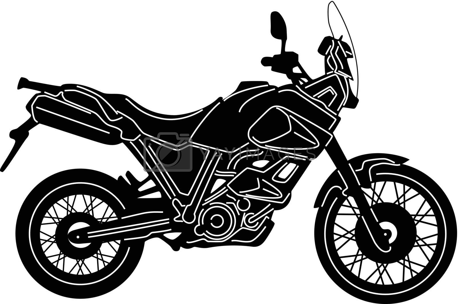 Royalty free image of Motorcycle Silhouette by silverrose1