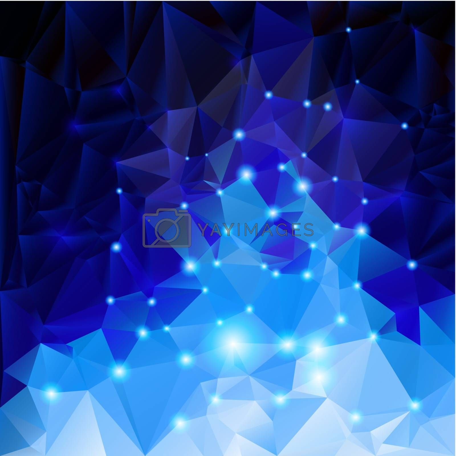 Royalty free image of Blue polygonal background by dvarg