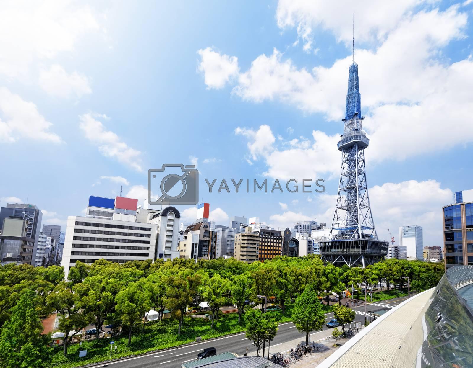 Royalty free image of Nagoya downtown daytime, Japan City by cozyta