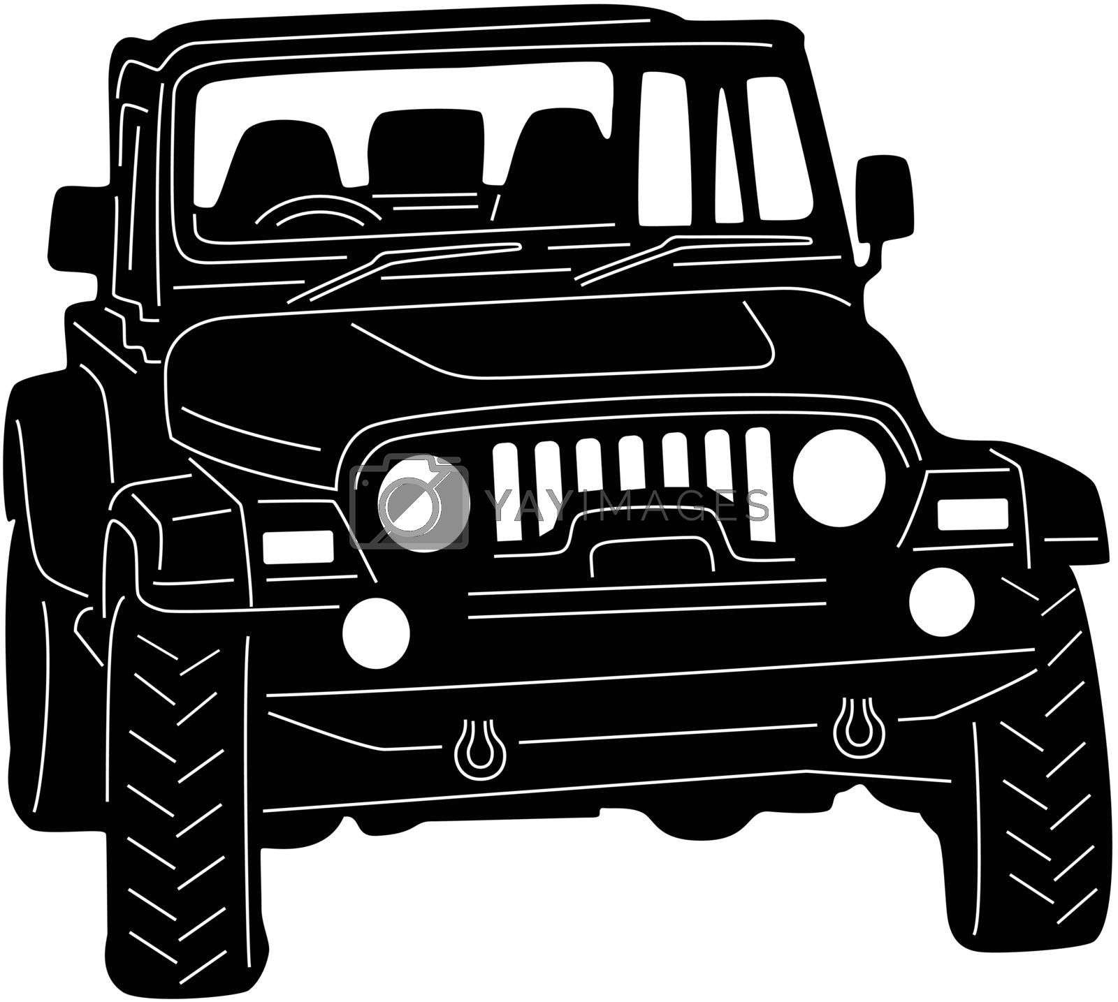 Royalty free image of 4x4 Truck Silhouette by silverrose1