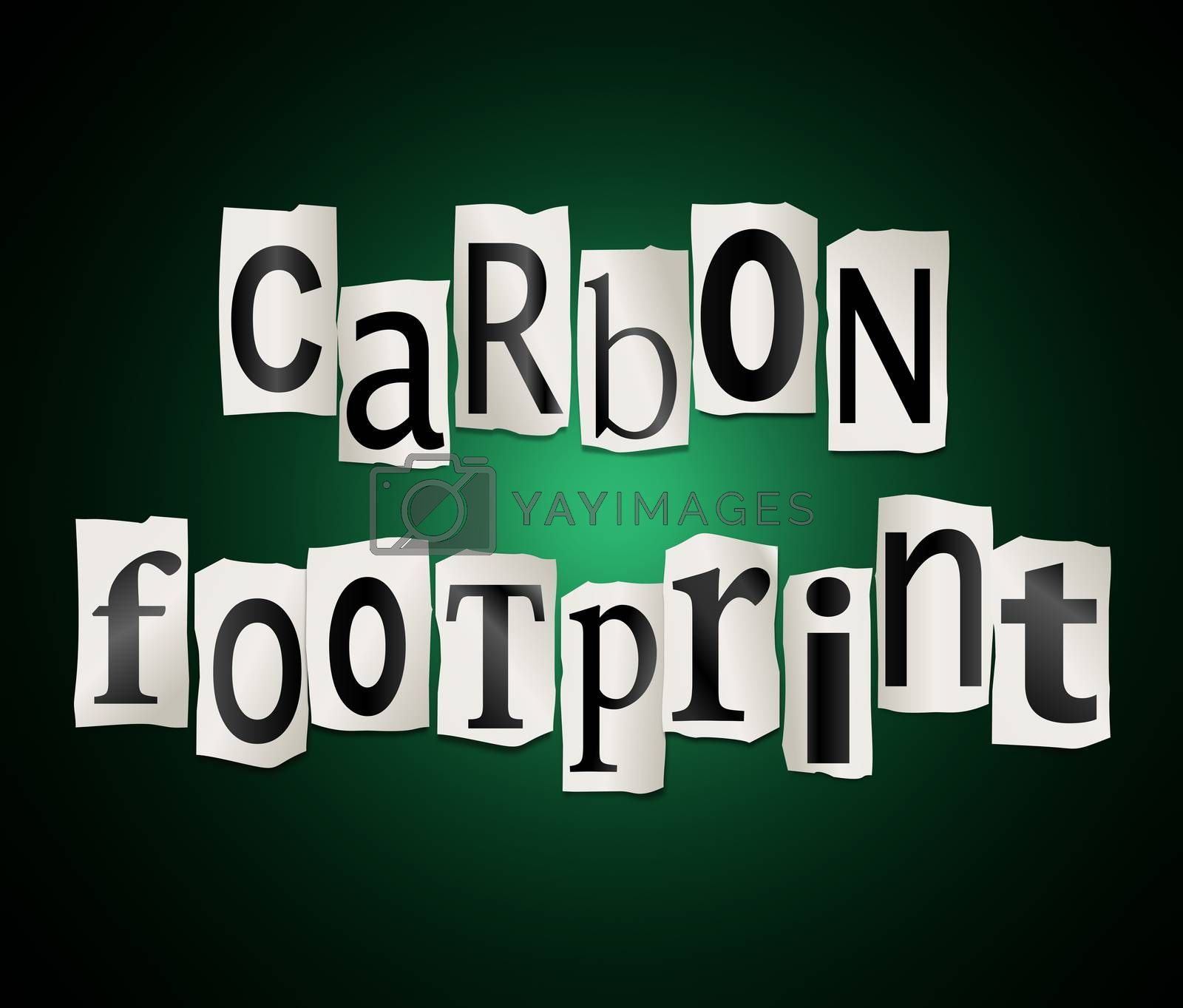 Royalty free image of Carbon footprint concept. by 72soul