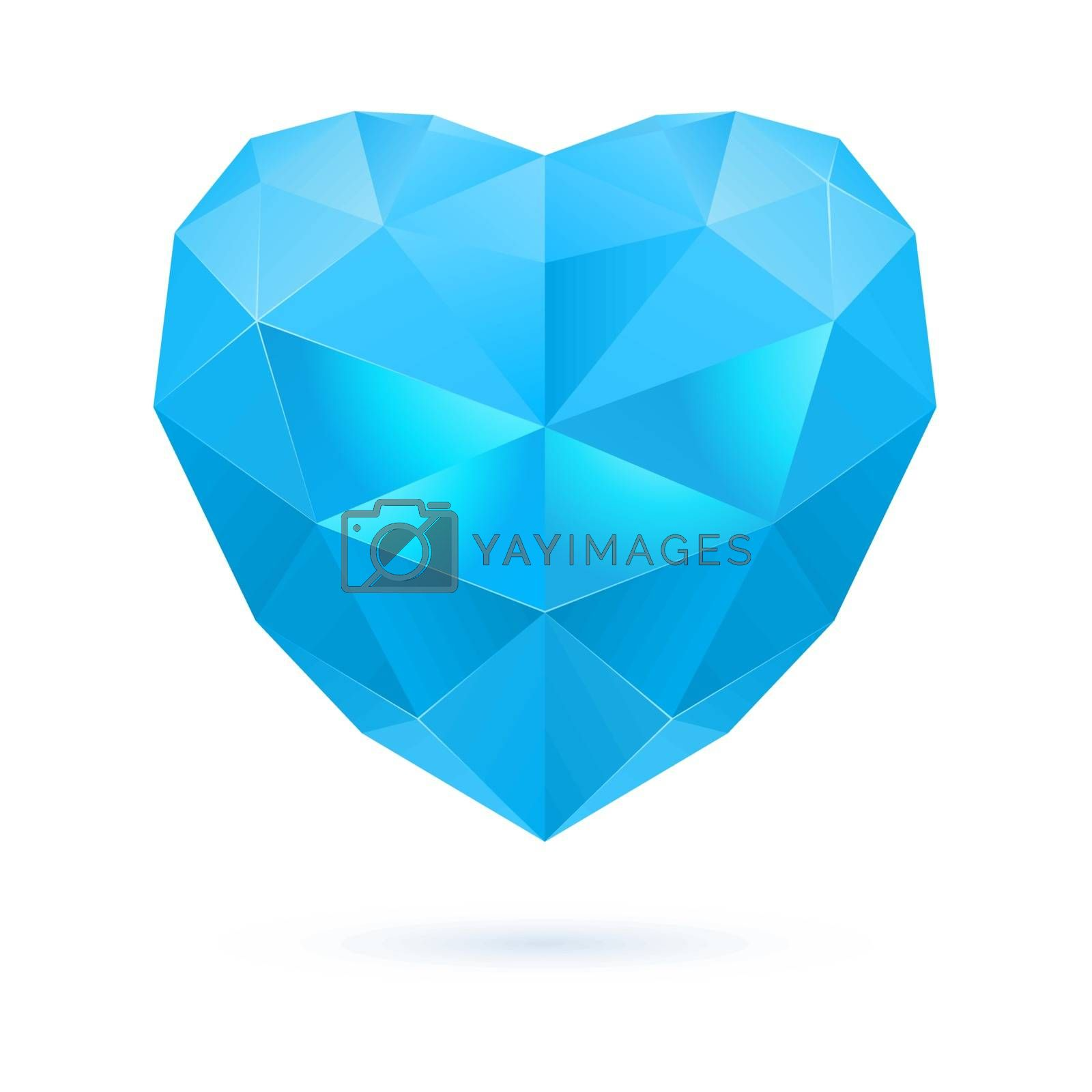 Royalty free image of Blue polygon heart by dvarg