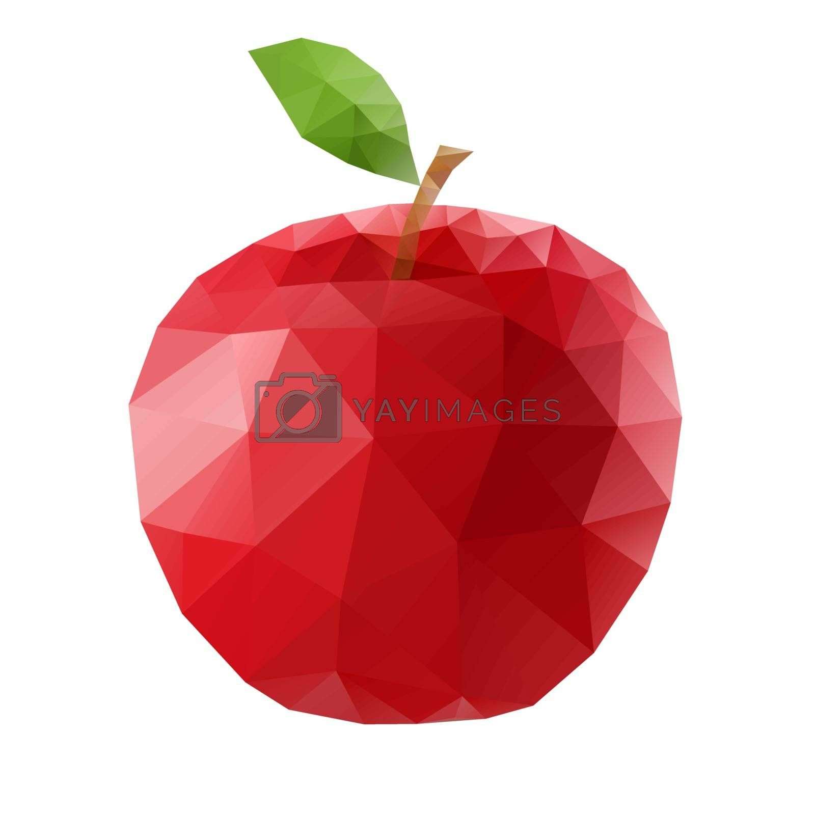 Royalty free image of Polygonal apple by dvarg