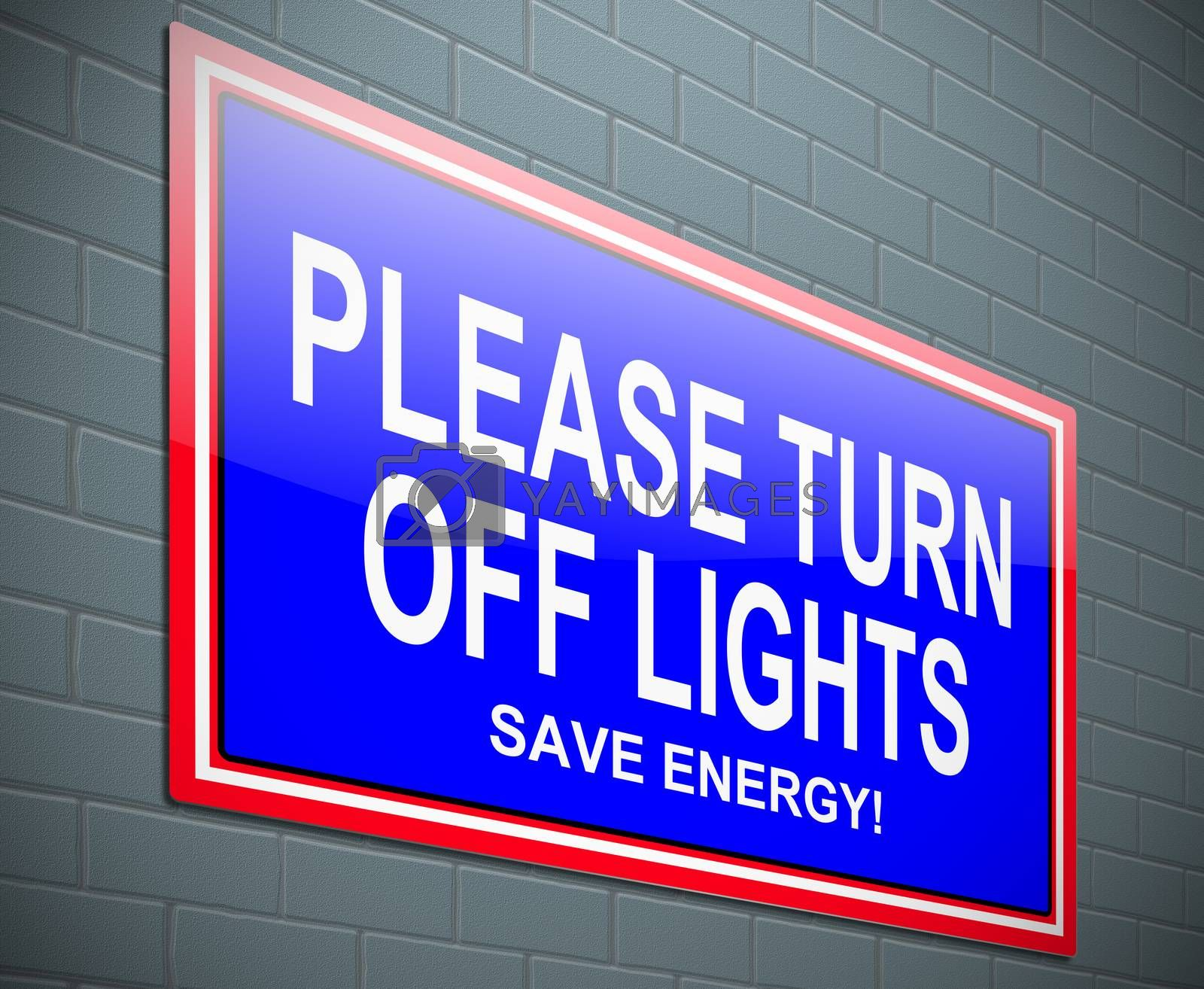 Royalty free image of Turn off light concept. by 72soul