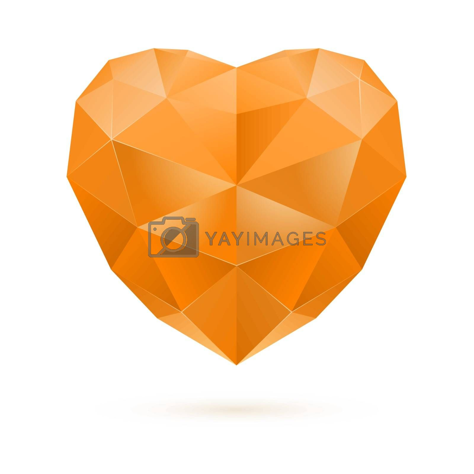 Royalty free image of Orange polygon heart by dvarg