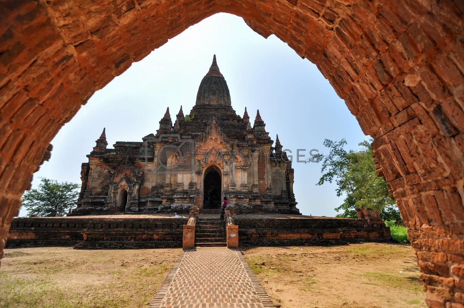 Royalty free image of Htilominlo temple, Bagan, Myanmar  by siraanamwong