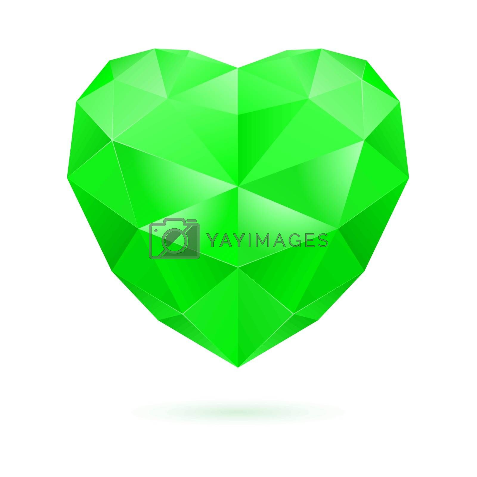 Royalty free image of Green polygon heart by dvarg