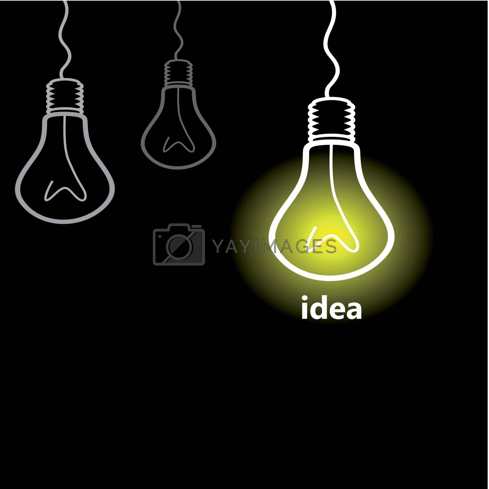 The collection of bulbs means idea