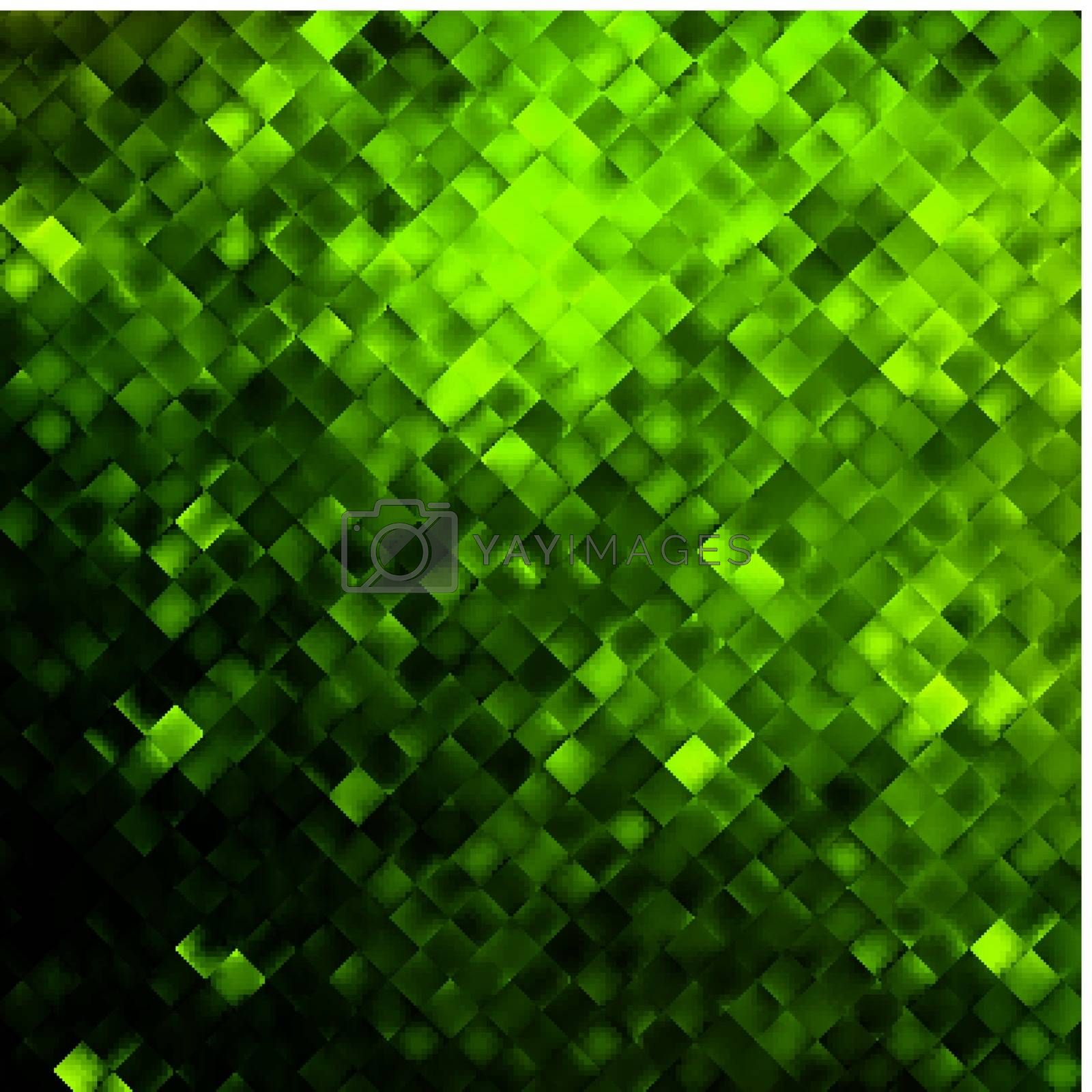 Green glitters on a soft blurred background with smooth highlights. EPS 10 vector file included