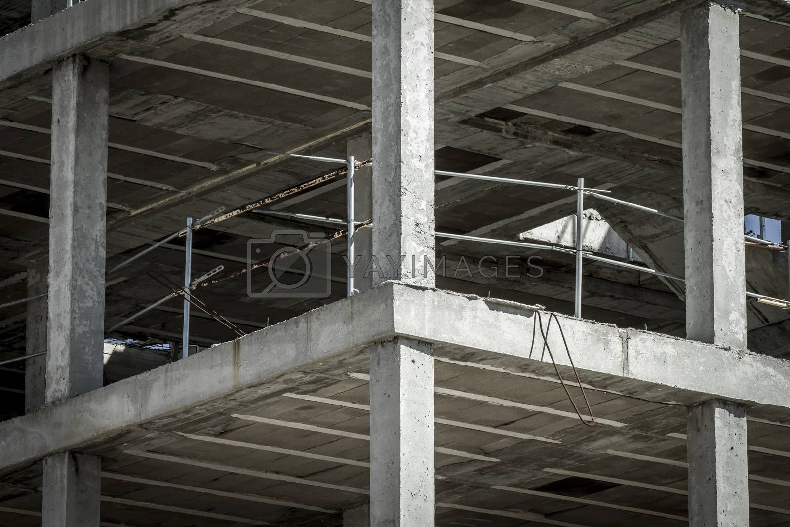 building construction, concrete beams