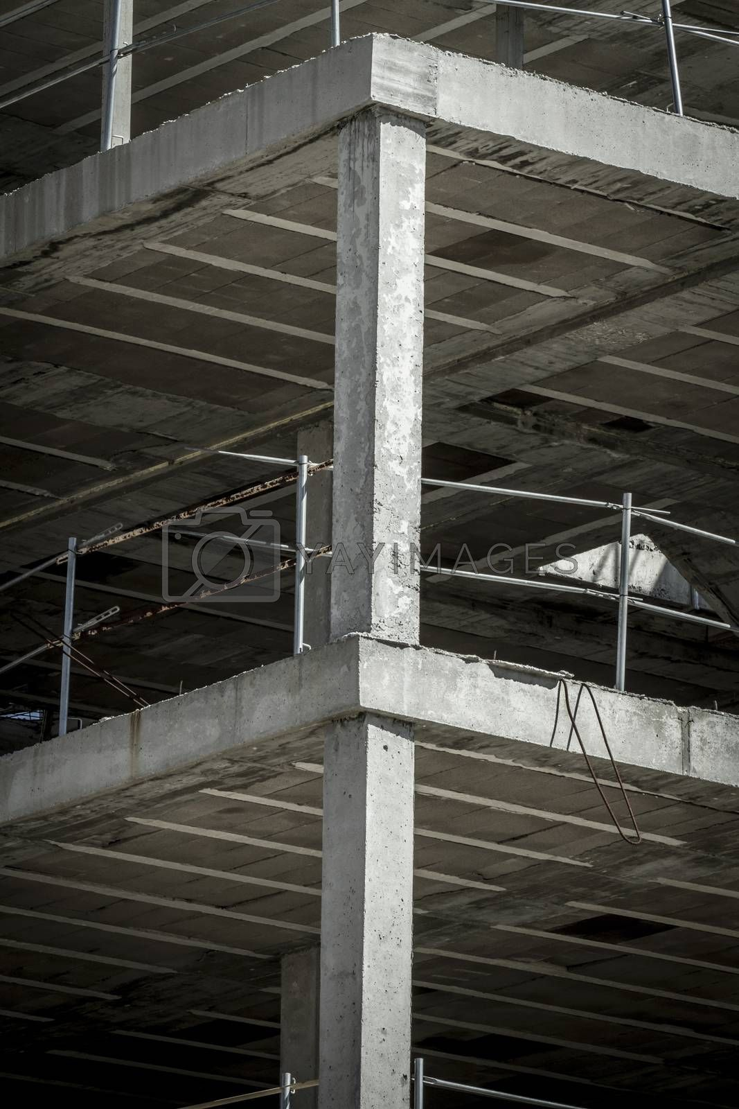 building construction, concrete beams by FernandoCortes