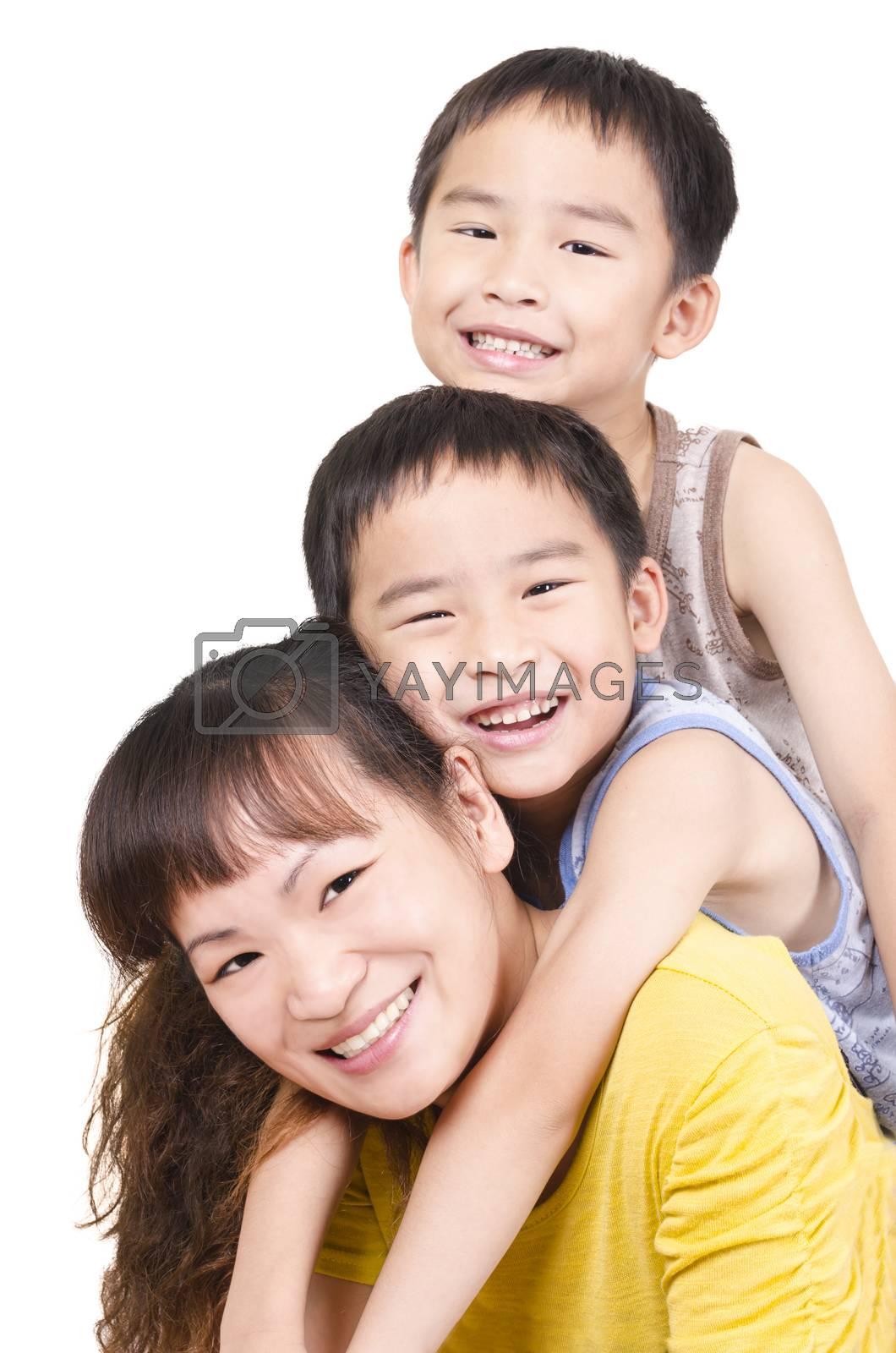 Royalty free image of Happy family portrait by FrankyLiu