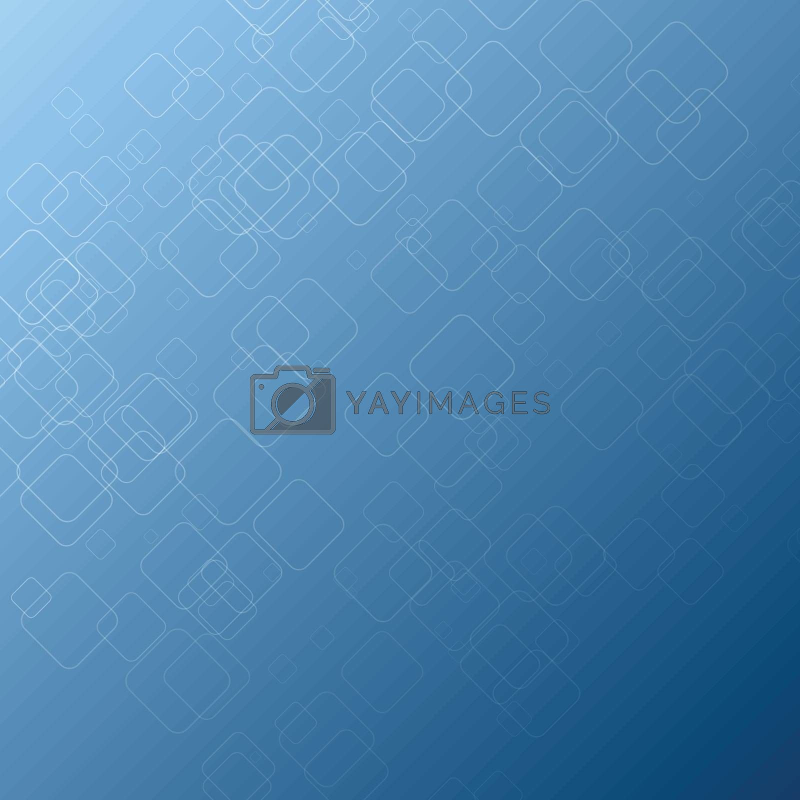 Abstract square  shape on blue background, stock vector