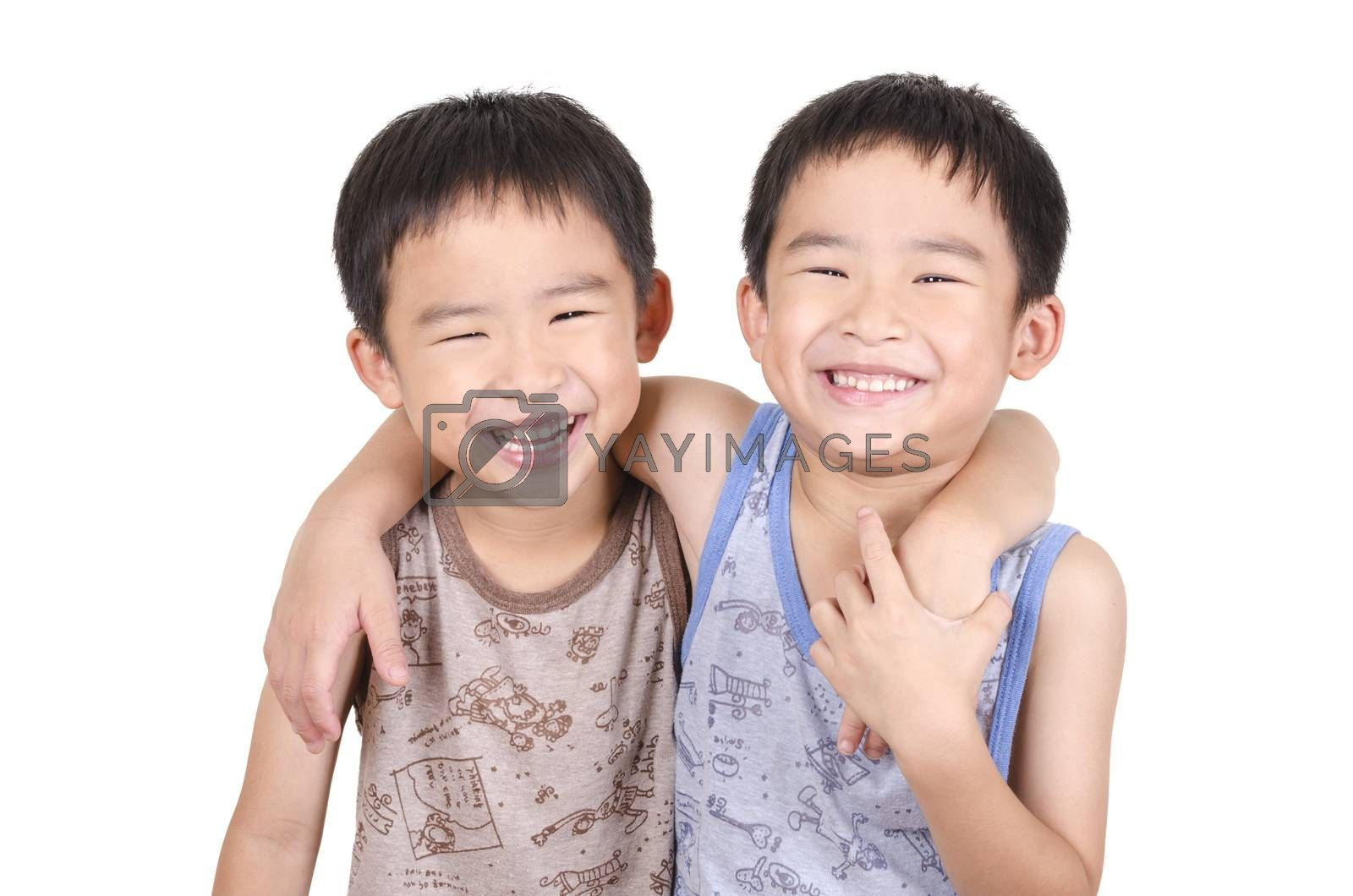 Royalty free image of Cute twins smiling by FrankyLiu