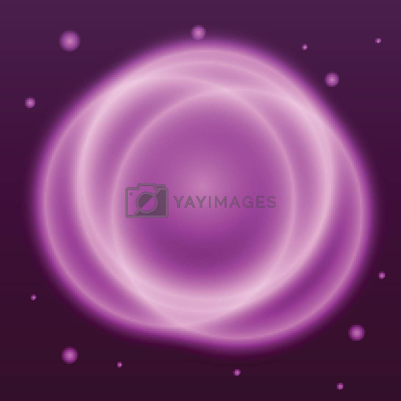 Abstract background with pink plasma circle effect, stock vector