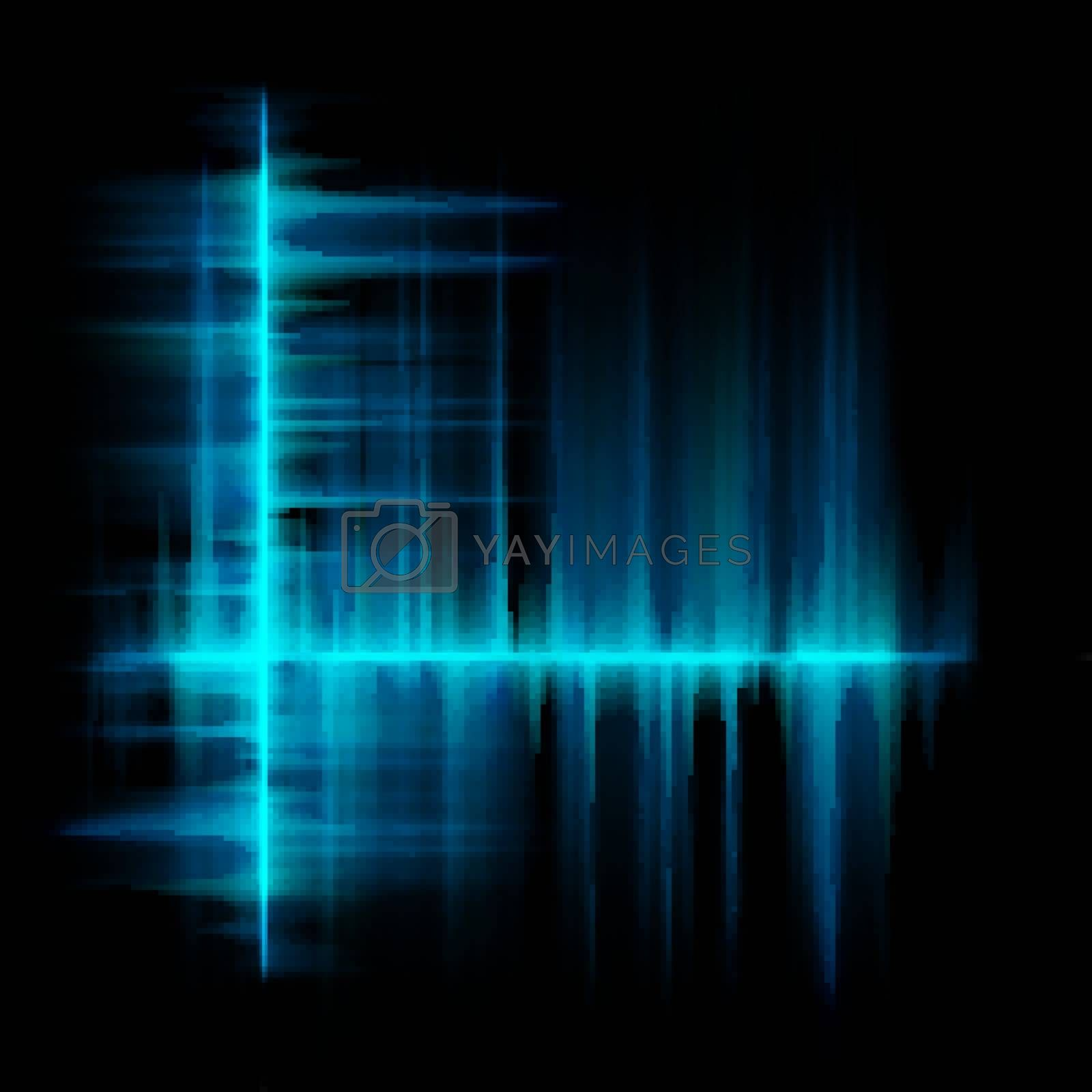 Blue lines equalizer design template. EPS 10 vector file included
