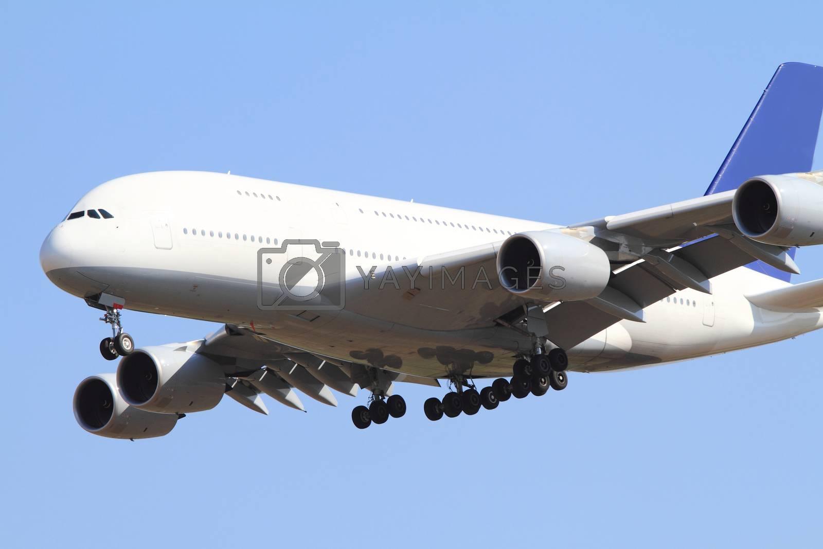 Close up photo of a wihte passenger air
