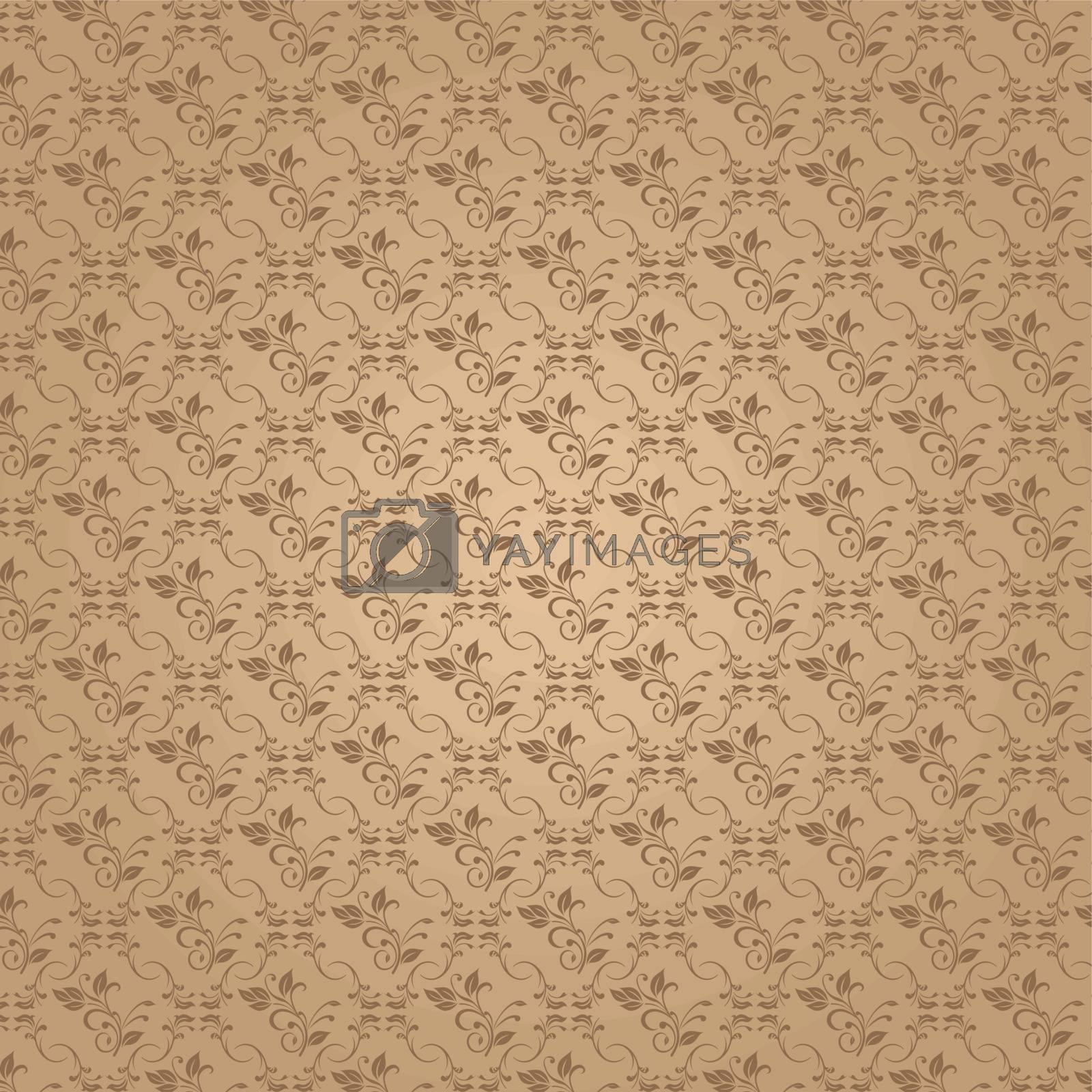 Vector illustration of floral background concept design